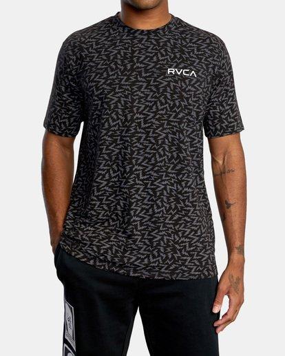 0 Matt Leines | VA Sport Leines Bolt Allover Workout Shirt Black AVYZT00669 RVCA