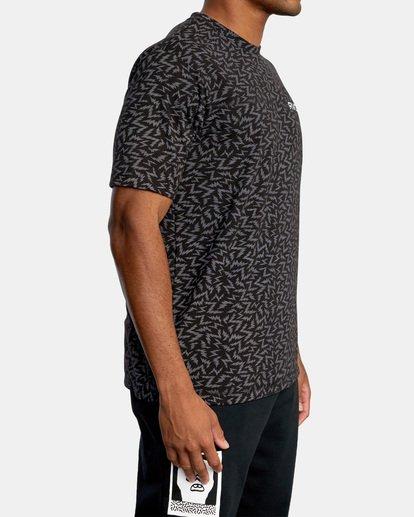 4 Matt Leines | VA Sport Leines Bolt Allover Workout Shirt Black AVYZT00669 RVCA