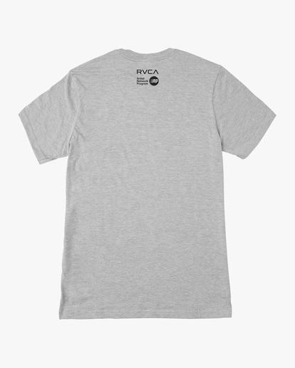 1 Matt Leines | VA Sport Leines Banner Workout Shirt Grey AVYZT00670 RVCA