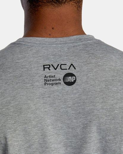 7 Matt Leines | VA Sport Leines Banner Workout Shirt Grey AVYZT00670 RVCA
