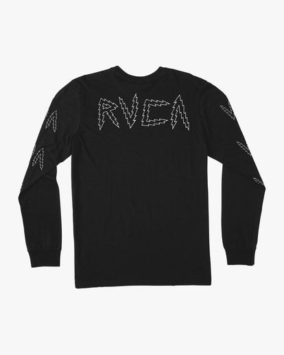 1 Matt Leines | VA Sport Leines Banner Long Sleeve Workout Shirt Black AVYZT00671 RVCA