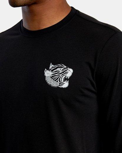 4 Matt Leines | VA Sport Leines Banner Long Sleeve Workout Shirt Black AVYZT00671 RVCA