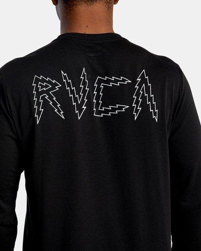 8 Matt Leines | VA Sport Leines Banner Long Sleeve Workout Shirt Black AVYZT00671 RVCA