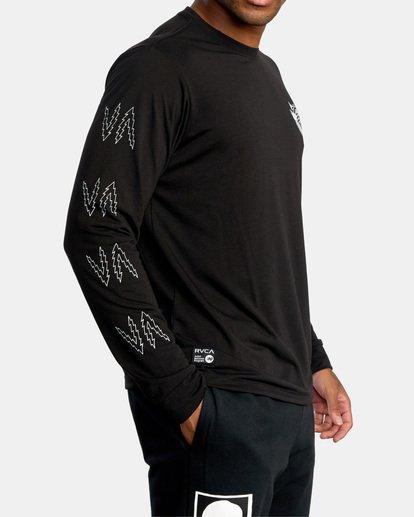 6 Matt Leines | VA Sport Leines Banner Long Sleeve Workout Shirt Black AVYZT00671 RVCA
