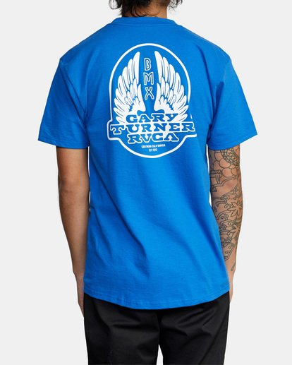 3 Gary Turner T-Shirt Blue AVYZT00692 RVCA