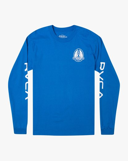 0 Gary Turner Long Sleeve T-Shirt Blue AVYZT00693 RVCA