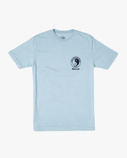 0 RVCA Town Country Short Sleeve T-Shirt Blue AVYZT00697 RVCA