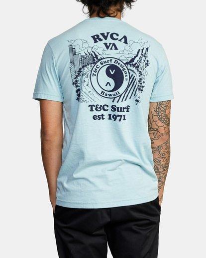 3 RVCA Town Country Short Sleeve T-Shirt Blue AVYZT00697 RVCA