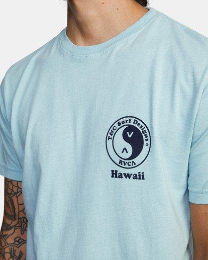 4 RVCA Town Country Short Sleeve T-Shirt Blue AVYZT00697 RVCA