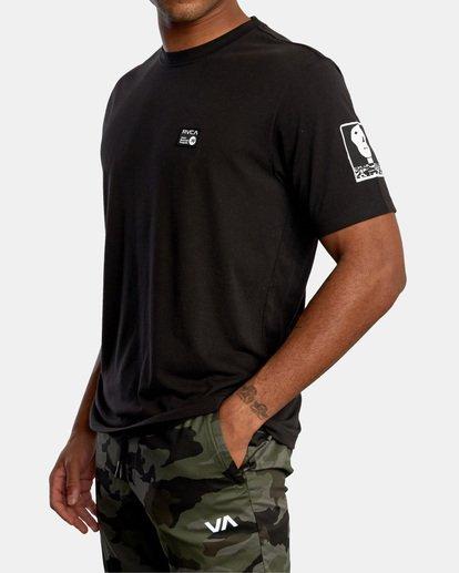 5 Matt Leines   VA Sport Faces Workout Shirt Black AVYZT00716 RVCA