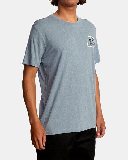 6 Tomb Seal Short Sleeve Tee Grey AVYZT00746 RVCA