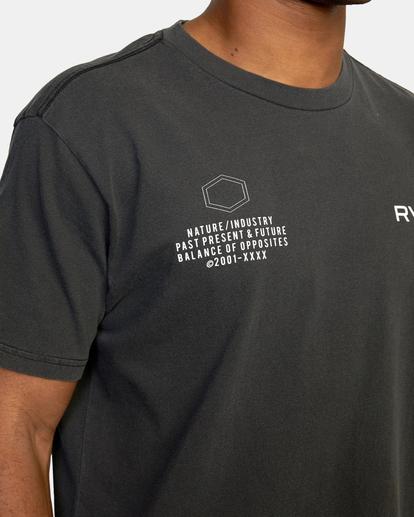 9 Big Pin Workout Shirt Black AVYZT00838 RVCA