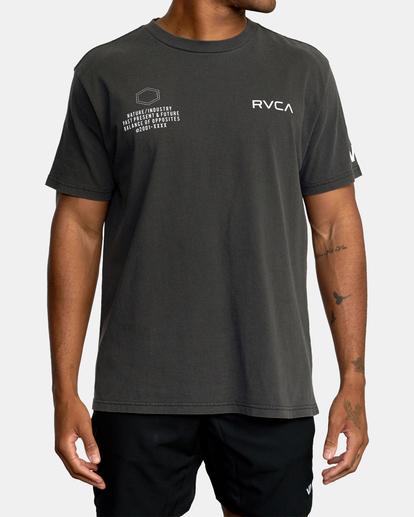 2 Big Pin Workout Shirt Black AVYZT00838 RVCA