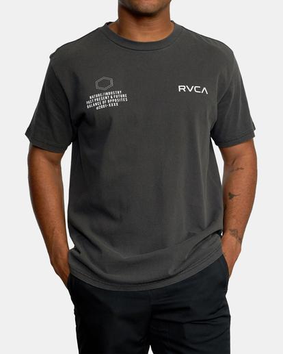7 Big Pin Workout Shirt Black AVYZT00838 RVCA
