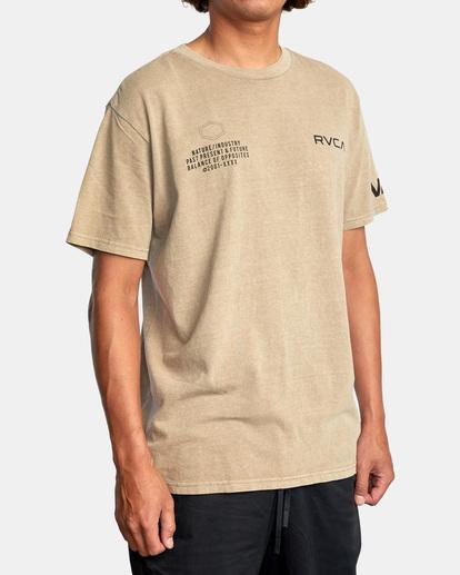 4 Big Pin Workout Shirt Grey AVYZT00838 RVCA