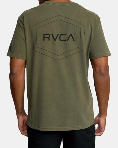 1 Big Pin Workout Shirt Green AVYZT00838 RVCA