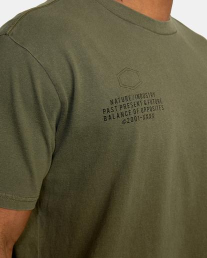 8 Big Pin Workout Shirt Green AVYZT00838 RVCA