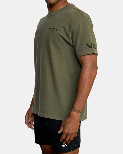 3 Big Pin Workout Shirt Green AVYZT00838 RVCA