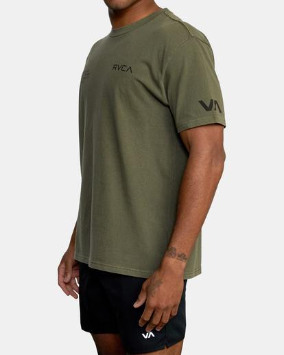 5 Big Pin Workout Shirt Green AVYZT00838 RVCA