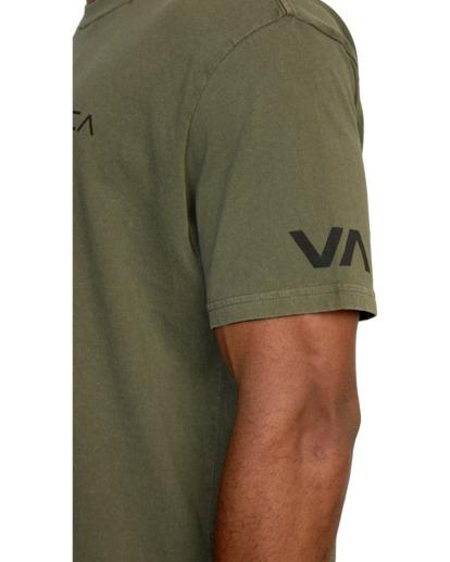 7 Big Pin Workout Shirt Green AVYZT00838 RVCA