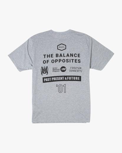 1 All Brand Short Sleeve Workout Shirt Grey AVYZT00840 RVCA