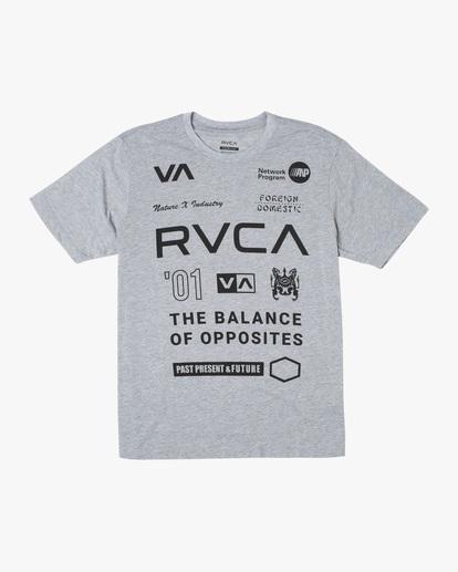 0 All Brand Short Sleeve Workout Shirt Grey AVYZT00840 RVCA