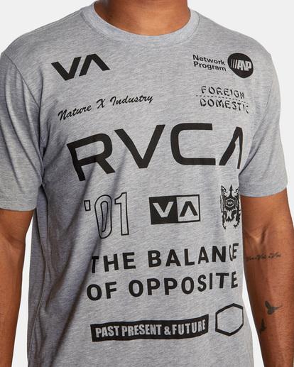 4 All Brand Short Sleeve Workout Shirt Grey AVYZT00840 RVCA