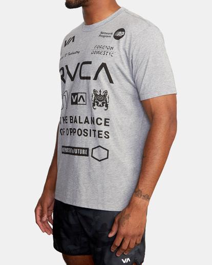 5 All Brand Short Sleeve Workout Shirt Grey AVYZT00840 RVCA