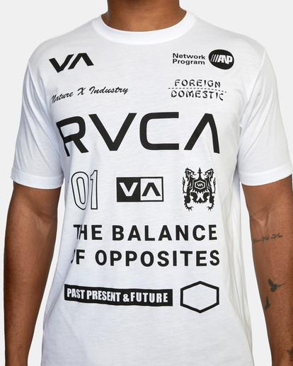 4 All Brand Short Sleeve Workout Shirt White AVYZT00840 RVCA