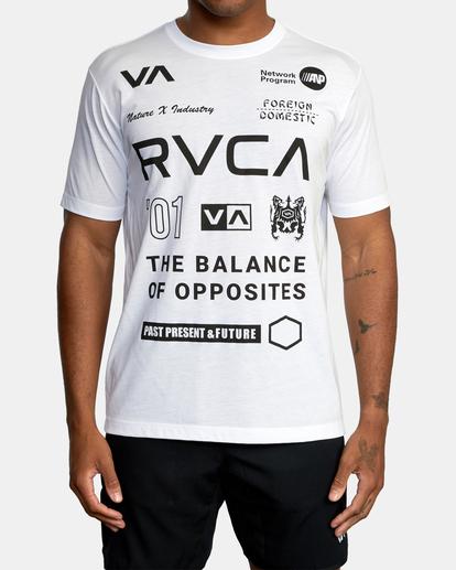 2 All Brand Short Sleeve Workout Shirt White AVYZT00840 RVCA