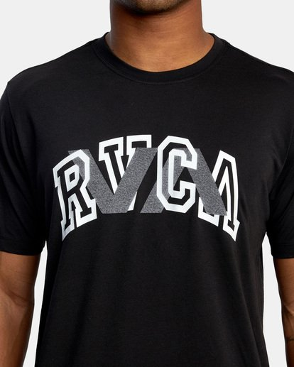 2 VA Sport | Double Major Workout Shirt Black AVYZT00842 RVCA