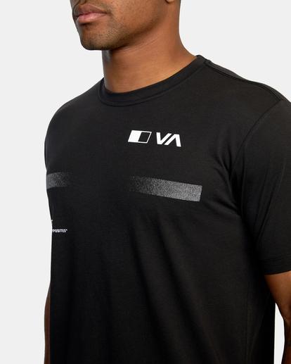 4 VA Sport | Pix Bar Workout Shirt Black AVYZT00843 RVCA