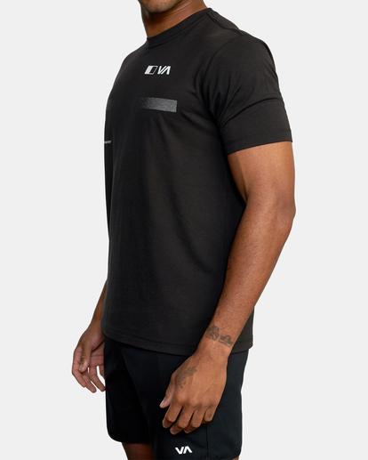5 VA Sport | Pix Bar Workout Shirt Black AVYZT00843 RVCA