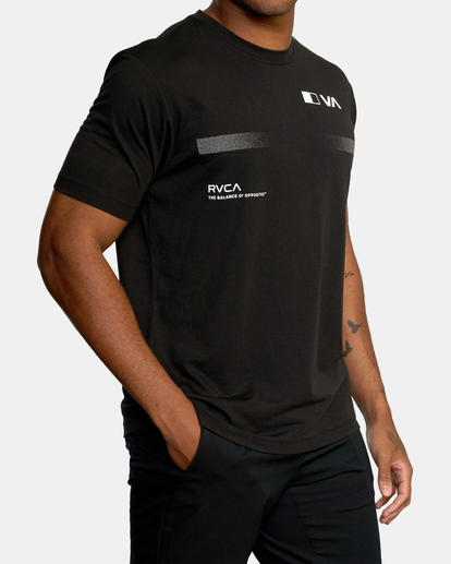 6 VA Sport | Pix Bar Workout Shirt Black AVYZT00843 RVCA