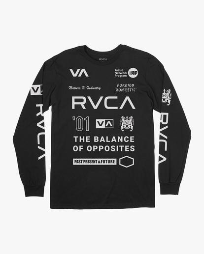 0 All Brand Long Sleeve Workout Shirt Black AVYZT00844 RVCA