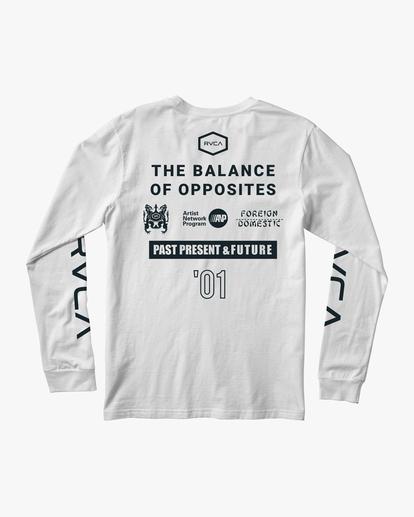 1 All Brand Long Sleeve Workout Shirt White AVYZT00844 RVCA