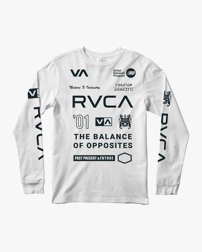 0 All Brand Long Sleeve Workout Shirt White AVYZT00844 RVCA