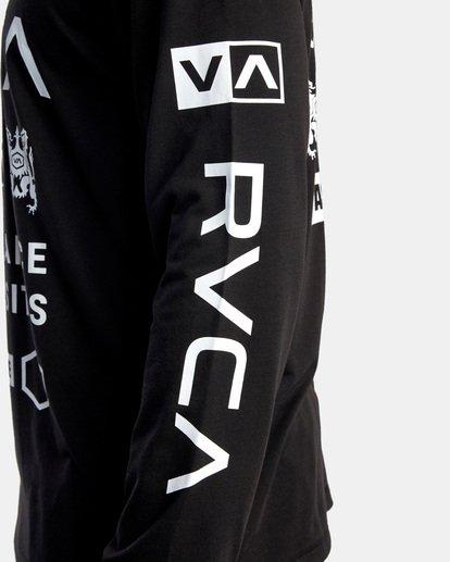 10 All Brand Long Sleeve Workout Shirt Black AVYZT00844 RVCA