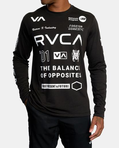 2 All Brand Long Sleeve Workout Shirt Black AVYZT00844 RVCA