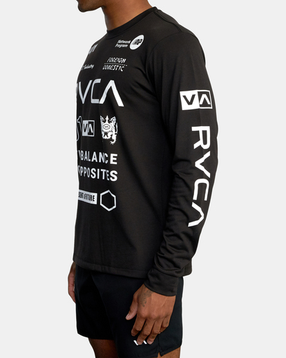 5 All Brand Long Sleeve Workout Shirt Black AVYZT00844 RVCA