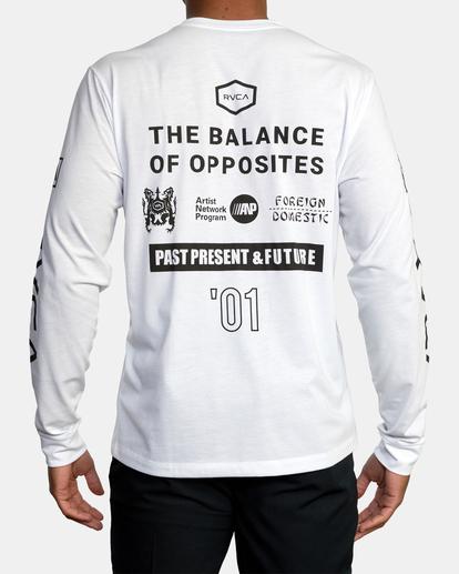 3 All Brand Long Sleeve Workout Shirt White AVYZT00844 RVCA