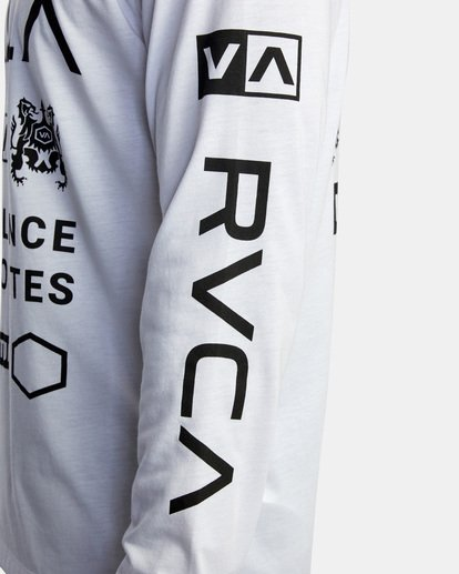 10 All Brand Long Sleeve Workout Shirt White AVYZT00844 RVCA
