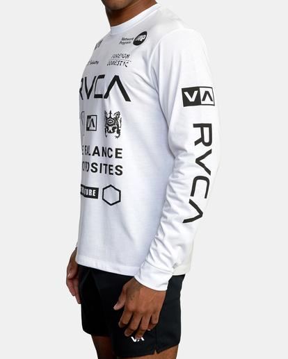 5 All Brand Long Sleeve Workout Shirt White AVYZT00844 RVCA
