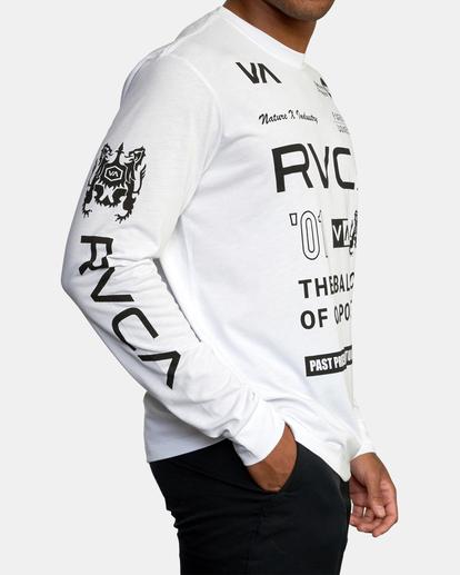 6 All Brand Long Sleeve Workout Shirt White AVYZT00844 RVCA