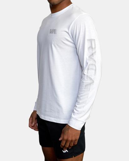 3 VA Sport   Big RVCA Speed Long Sleeve Workout Shirt White AVYZT00845 RVCA
