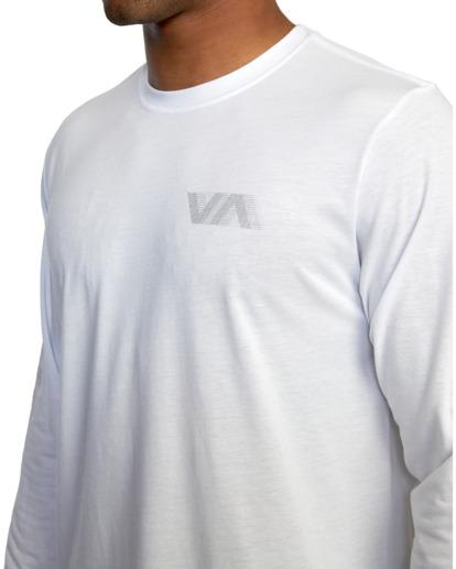 5 VA Sport   Big RVCA Speed Long Sleeve Workout Shirt White AVYZT00845 RVCA