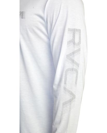 6 VA Sport   Big RVCA Speed Long Sleeve Workout Shirt White AVYZT00845 RVCA