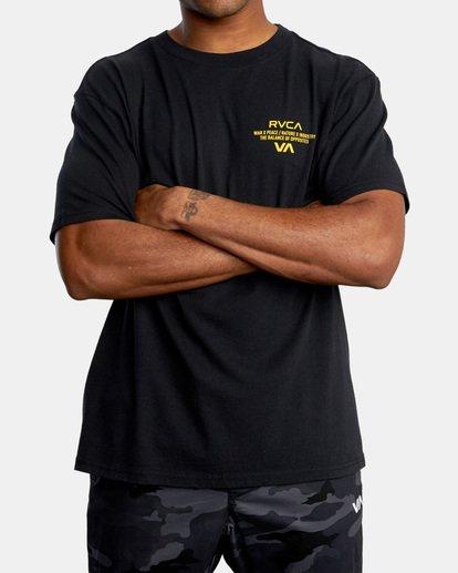 0 VA Sport   Hang Up Workout Shirt Black AVYZT00851 RVCA