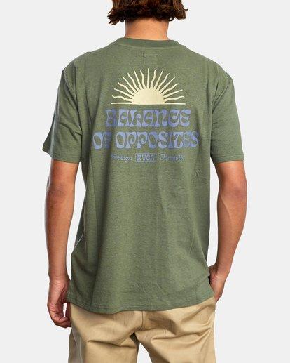 1 Harmonia Graphic Short Sleeve Tee Green AVYZT00882 RVCA