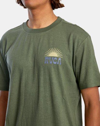 2 Harmonia Graphic Short Sleeve Tee Green AVYZT00882 RVCA